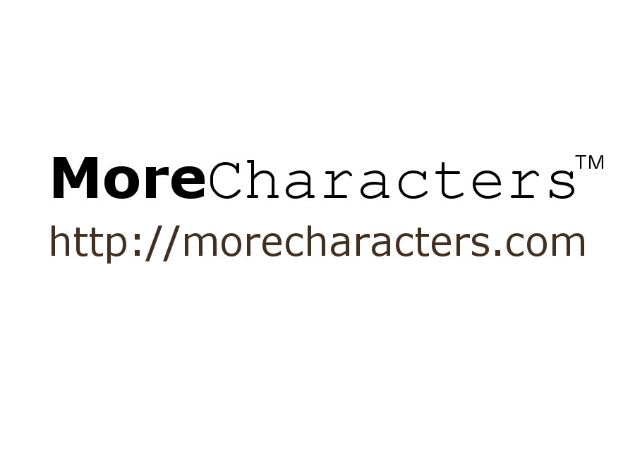MoreCharacters Button